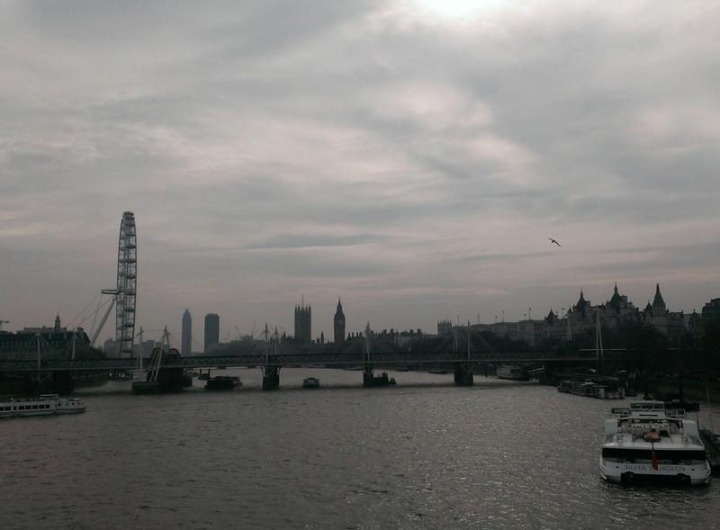 Waterloo Bridgeからの眺め