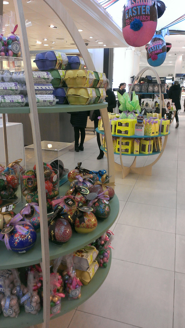 Easter eggs at Selfridges
